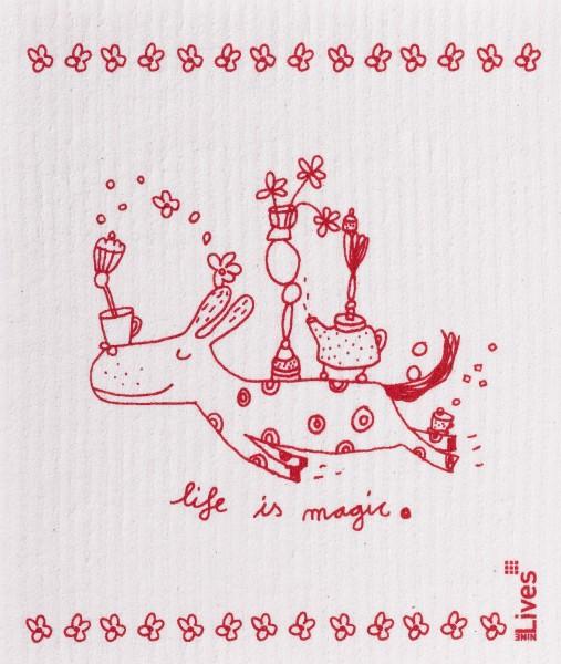 Schwammtuch Life is magic