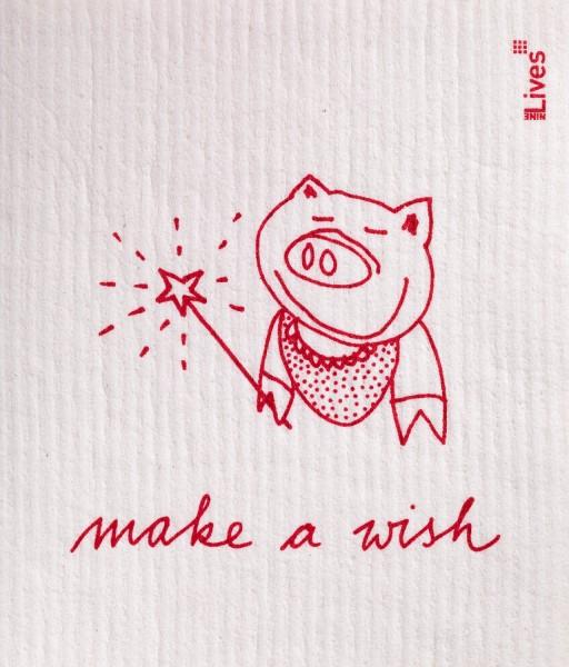 Schwammtuch Make a wish
