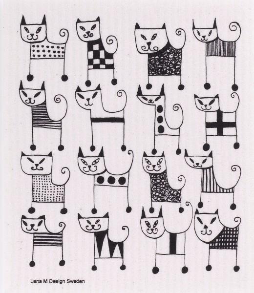 Schwammtuch Katzen