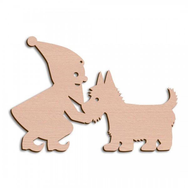 Holzwichtel + Hund