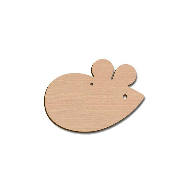 Holztier Maus