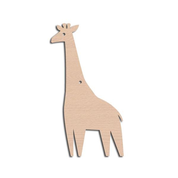 Holztier Giraffe