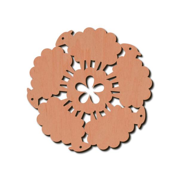 Holzstern - Schaf Ø 8 cm