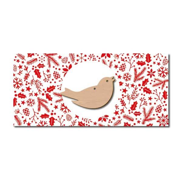 Weihnachtskarte Vogel