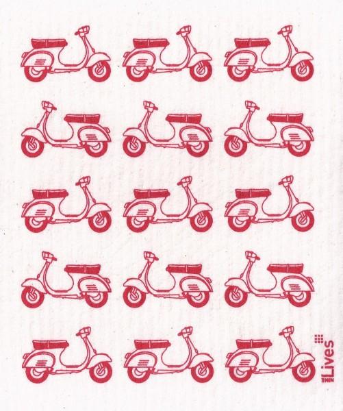 Schwammtuch Motorroller