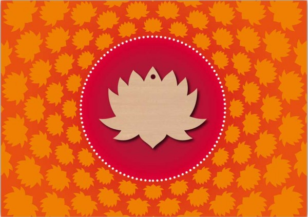 Grußkarte Lotus