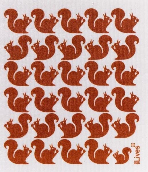 Schwammtuch Eichhörnchen