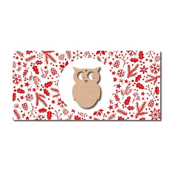 Weihnachtskarte Eule