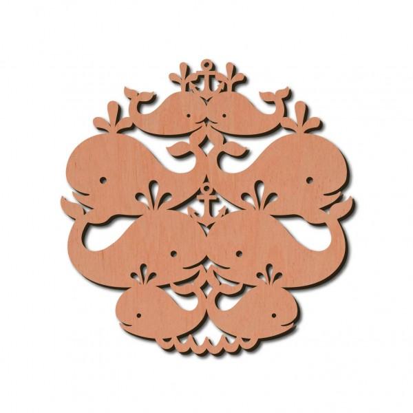 Holzstern - Wal Ø 8 cm