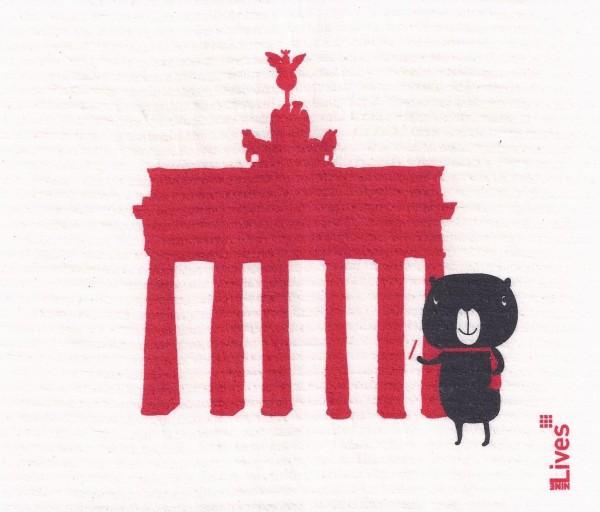 Schwammtuch Brandenburger Tor