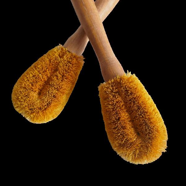 Spülbürste aus gelber Kokosfaser