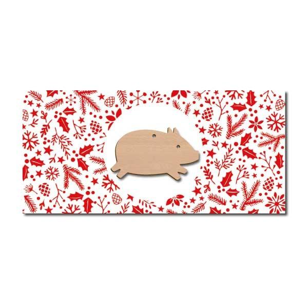 Weihnachtskarte Schwein
